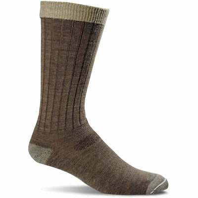 Sockwell Mens Easy Does It Relaxed Fit Crew Socks - Medium/Large / Bark