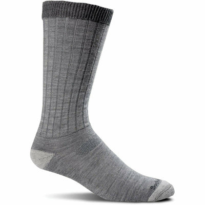 Sockwell Mens Easy Does It Relaxed Fit Crew Socks - Medium/Large / Gray
