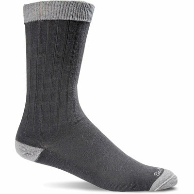 Sockwell Mens Easy Does It Relaxed Fit Crew Socks - Medium/Large / Black