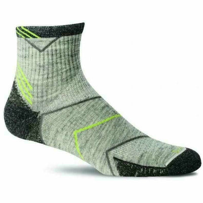 Sockwell Mens Incline Moderate Compression Quarter Socks Medium/Large / Light Gray