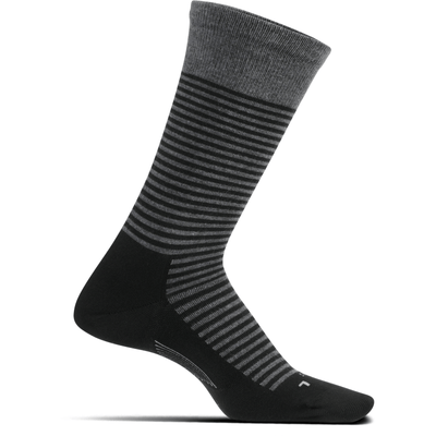 Feetures Everyday Mens Uptown Ultra Light Crew Socks Large / Gray