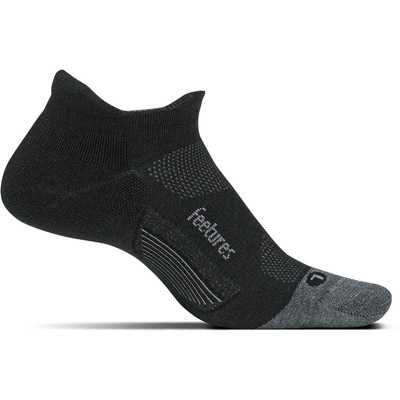 Feetures Merino 10 Ultra Light No Show Tab Socks - Small / Charcoal