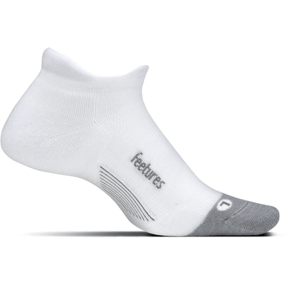 Feetures Merino 10 Ultra Light No Show Tab Socks - Small / White