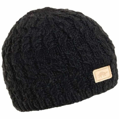 Turtle Fur Mika Wool Beanie - One Size Fits Most / Black