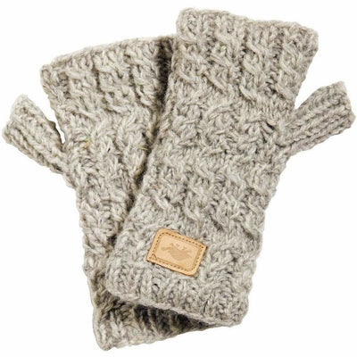 Turtle Fur Mika Wool Fingerless Mittens One Size Fits Most / Smoke Heather