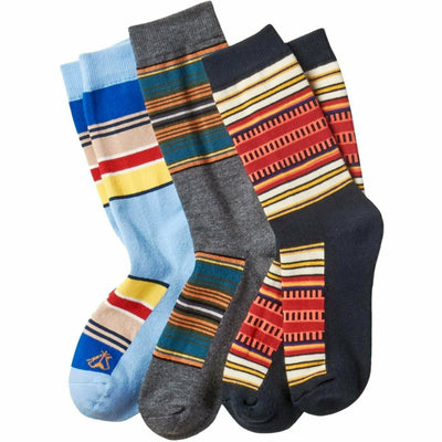 Pendleton National Park Striped Crew Socks Large / Acadia/Olympic/Yosemite / 3- Pair Pack