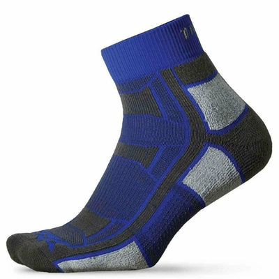 Thorlo Trail Running Light Cushion Quarter Socks - X-Small / Royal Thunder