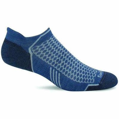 Sockwell Womens Moderate Compression Incline Micro Socks - Small/Medium / Bluestone