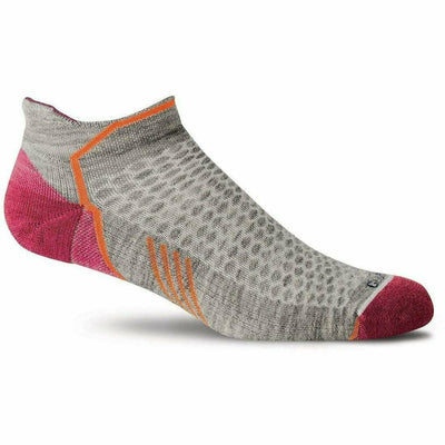 Sockwell Womens Moderate Compression Incline Micro Socks - Small/Medium / Grey