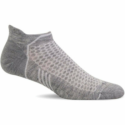Sockwell Womens Moderate Compression Incline Micro Socks Small/Medium / Grey Solid