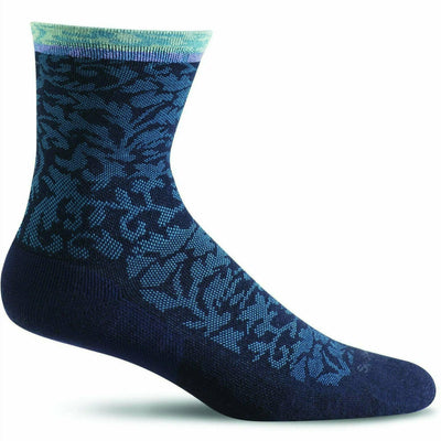 Sockwell Womens Plantar Cush Firm Compression Crew Socks Small/Medium / Navy