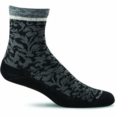Sockwell Womens Plantar Cush Firm Compression Crew Socks Small/Medium / Black