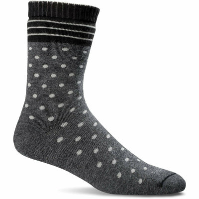 Sockwell Womens Plush Relaxed Fit Crew Socks Small/Medium / Charcoal