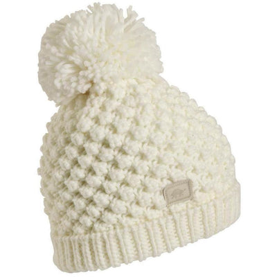 Turtle Fur Pop Up Pom Beanie - One Size Fits Most / White