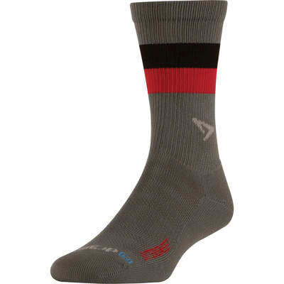 Drymax Bittersweet Running Lite-Mesh Crew Socks Small / Anthracite with Red/Black