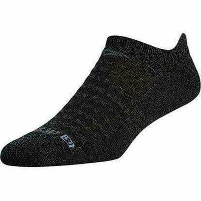 Drymax Running Light-Mesh No Show Tab Socks Small / Graphite Heathered