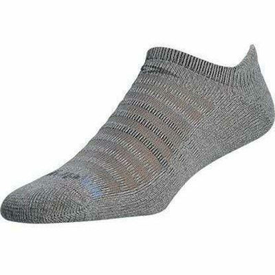Drymax Running Light-Mesh No Show Tab Socks Small / Gray Heathered