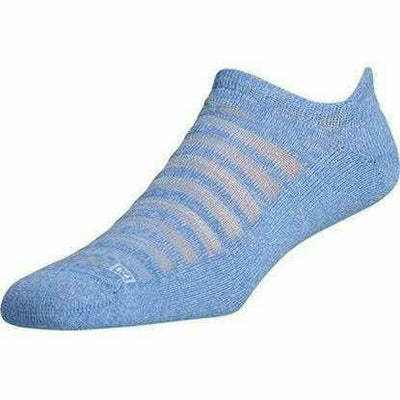 Drymax Running Light-Mesh No Show Tab Socks Small / Sky Blue Heathered