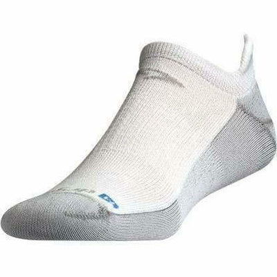 Drymax Running No Show Tab Socks - Small / White