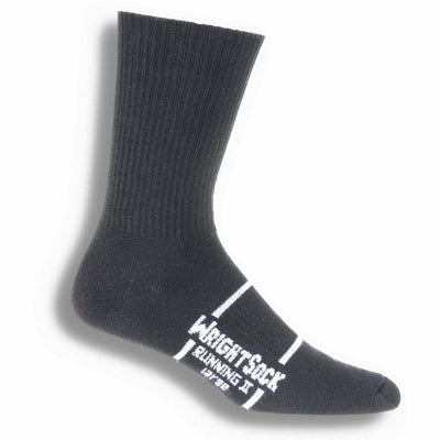 Wrightsock Running II Crew Socks - Small / Black / Single Pair