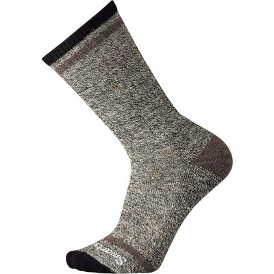 Smartwool Mens Larimer Crew Socks - Large / Black/Taupe Heather