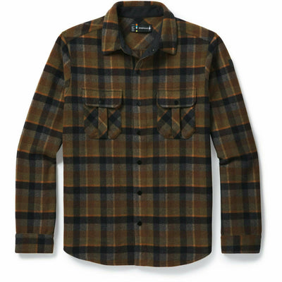 Smartwool Mens Anchor Line Shirt Jacket - Medium / Olive Plaid