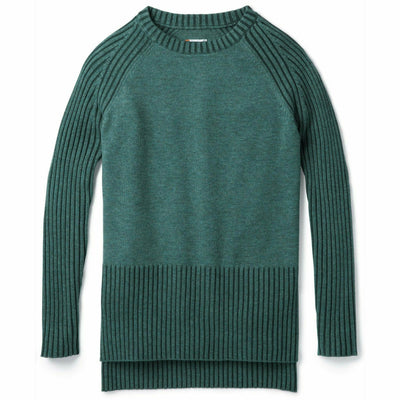 Smartwool Womens Ripple Creek Tunic Sweater Small / Mediterranean Green Heather