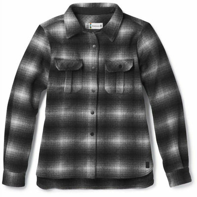Smartwool Womens Anchor Line Shirt Jacket - Small / Medium Gray
