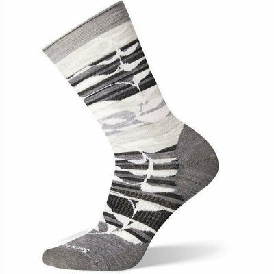 Smartwool Womens Non-Binding Pressure Free Palm Crew Socks - Small / Medium Gray