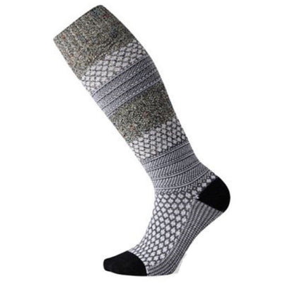 Smartwool Womens Popcorn Cable Knee-High Socks - Small / Black-Multi Donegal