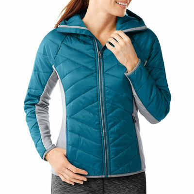 Smartwool Womens Double Corbet 120 Hoodie - Small / Glacial Blue