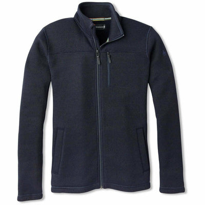 Smartwool Mens Hudson Trail Fleece Full Zip Jacket - Medium / Navy
