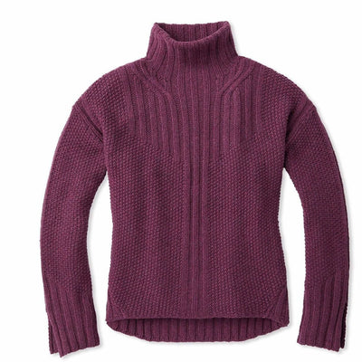 Smartwool Womens Spruce Creek Sweater - Small / Sangria Heather