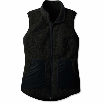 Smartwool Womens Anchor Line Reversible Sherpa Vest - Small / Charcoal