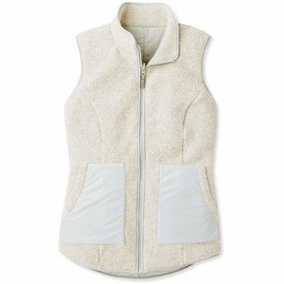 Smartwool Womens Anchor Line Reversible Sherpa Vest - Small / Storm Gray