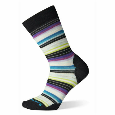 Smartwool Womens Margarita Socks - Small / Black-Meadow Mauve Heather