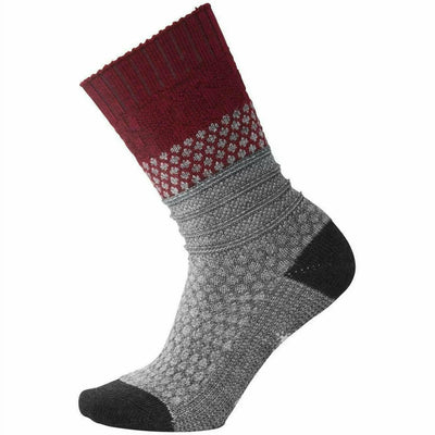 Smartwool Womens Popcorn Cable Socks Small / Tibetan Red Heather