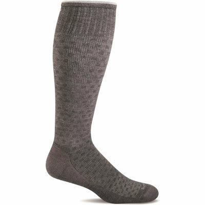 Sockwell Mens Shadow Box Moderate Compression OTC Socks Medium/Large / Charcoal