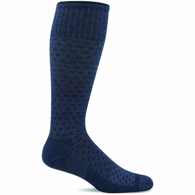 Sockwell Mens Shadow Box Moderate Compression OTC Socks Medium/Large / Denim