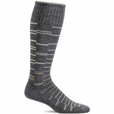 Sockwell Mens Dashing Moderate Compression OTC Socks Medium/Large / Charcoal