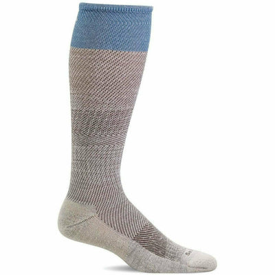 Sockwell Womens Modern Tweed Moderate Compression Knee High Socks - Small/Medium / Natural