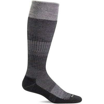 Sockwell Womens Modern Tweed Moderate Compression Knee High Socks - Small/Medium / Black
