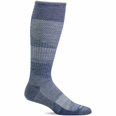 Sockwell Womens Modern Tweed Moderate Compression Knee High Socks - Small/Medium / Denim