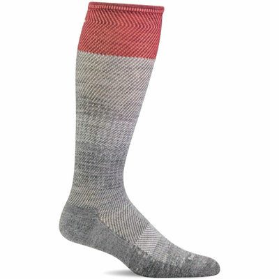 Sockwell Womens Modern Tweed Moderate Compression Knee High Socks - Small/Medium / Grey