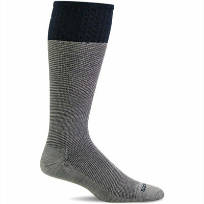 Sockwell Mens Bart Moderate Compression OTC Socks - Medium/Large / Grey
