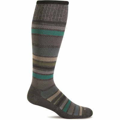 Sockwell Mens Twillful Moderate Compression Knee High Socks Medium/Large / Charcoal
