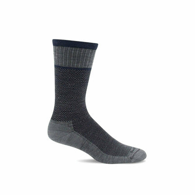 Sockwell Mens Plantar Cush Firm Compression Crew Socks - Large/X-Large / Light Grey