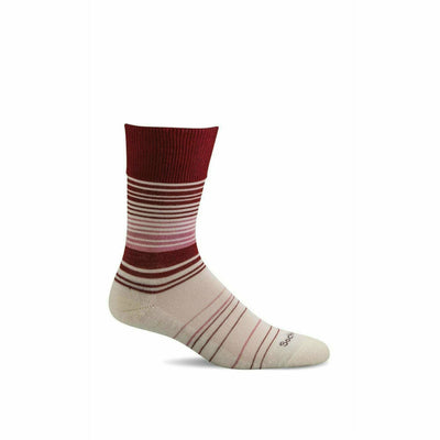 Sockwell Womens Easy Does It Relaxed Fit Crew Socks - Small/Medium / Ruby