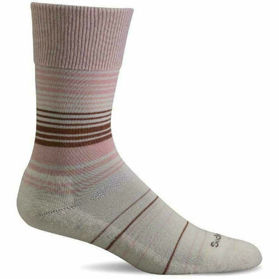 Sockwell Womens Easy Does It Relaxed Fit Crew Socks - Small/Medium / Rose