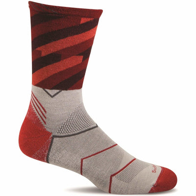 Sockwell Mens Cyclone Moderate Compression Crew Socks - Large/X-Large / Natural